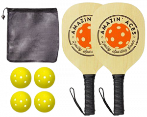 Amazin' Aces Wood Pickleball Paddle Set Review