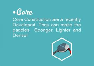 Core of paddle